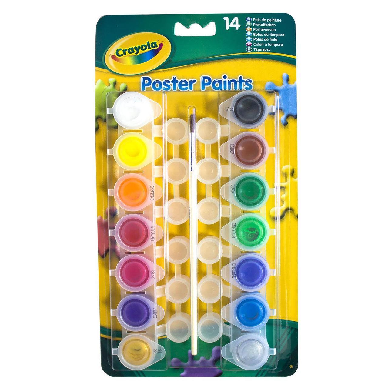 Crayola 14 баночек краски — темпера