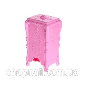 Пластиковая подставка для салфеток, розовая