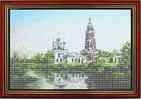 Схема для вышивки бисером «Церковь у реки»