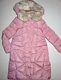 Пуховик розовый зимнее пальто для девочки рост 164, GRACE 60432, фото 4