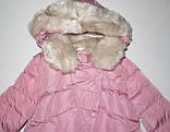Пуховик розовый зимнее пальто для девочки рост 164, GRACE 60432, фото 3