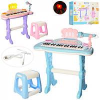 Синтезатор DJ205  на ножках,муз,св, стульч, микроф, MP3,запись,USB шн,от сети, кор, 2ц,кор,51-44-13см