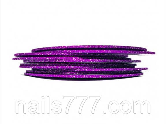Сахарная лента для декора ногтей - Фиолетовая 2 мм, фото 2