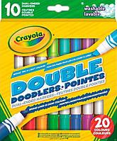 Crayola 10 двухсторонних фломастеров;20 цветов;3+
