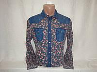 Мужская джинсовая рубашка с длинным рукавом на кнопках Terranova , фото 1