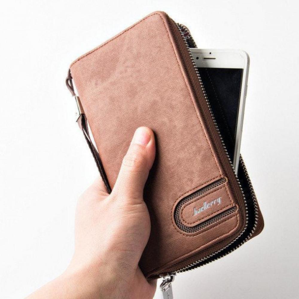 Портмоне-клатч кошелёк Baellerry S1514 коричневый