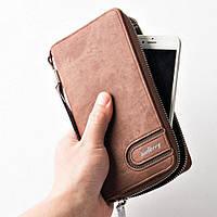 Портмоне-клатч кошелёк Baellerry S1514 коричневый, фото 1