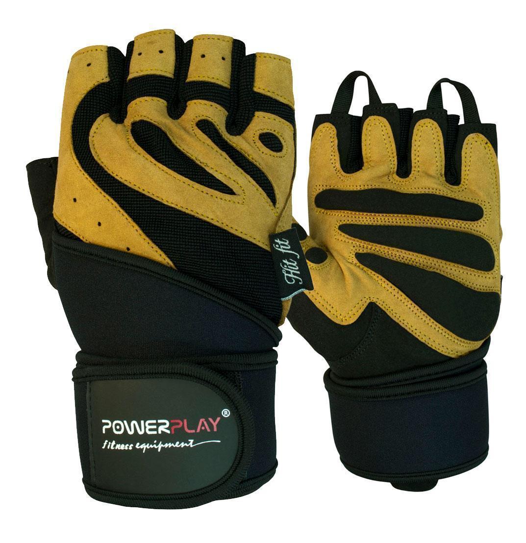 Перчатки для фитнеса и тяжелой атлетики PowerPlay 1063 B черно-коричневые L