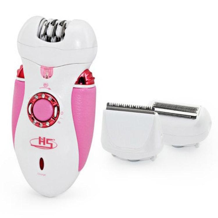 Беспроводной эпилятор Nikai 7698 3 в 1 триммер бритвенная насадка для лица зоны бикини три съемные насадки