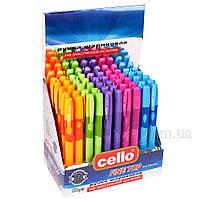 Ручка шариковая на масленной основе треугольная для левшей CELLO FineTop (синяя) (упаковка 50 шт) 10270074