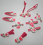 Набор Hello Kitty украшения заколки 10 штук Малиновый в коробке, фото 2