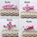 Набор Hello Kitty украшения заколки 10 штук Малиновый в коробке, фото 4