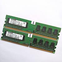 Комплект оперативной памяти Elpida DDR2 2Gb (1Gb+1Gb) 800MHz PC2 6400U CL6 (EBE10UE8AEFA-8G-E) Б/У, фото 1