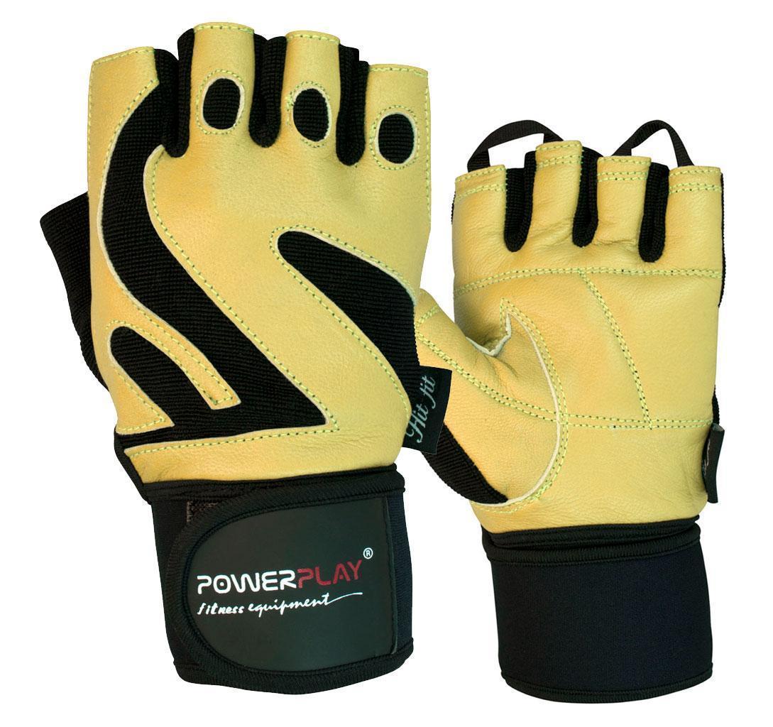 Перчатки для фитнеса и тяжелой атлетики PowerPlay 1064 B коричневые L