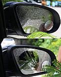 Антидождь защитная нано пленка для зеркал авто на стекла 145*100мм (пара), фото 3