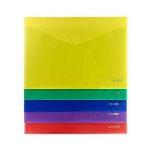 Папка-конверт на липучке А4 Economix Е31303-50 непрозрачная