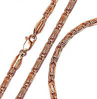 Набор: цепочка+браслет фирмы Xuрing.Позолота с крас. от.  Длина цепочки 50 см, ширина 3 мм. Браслет 20 см.