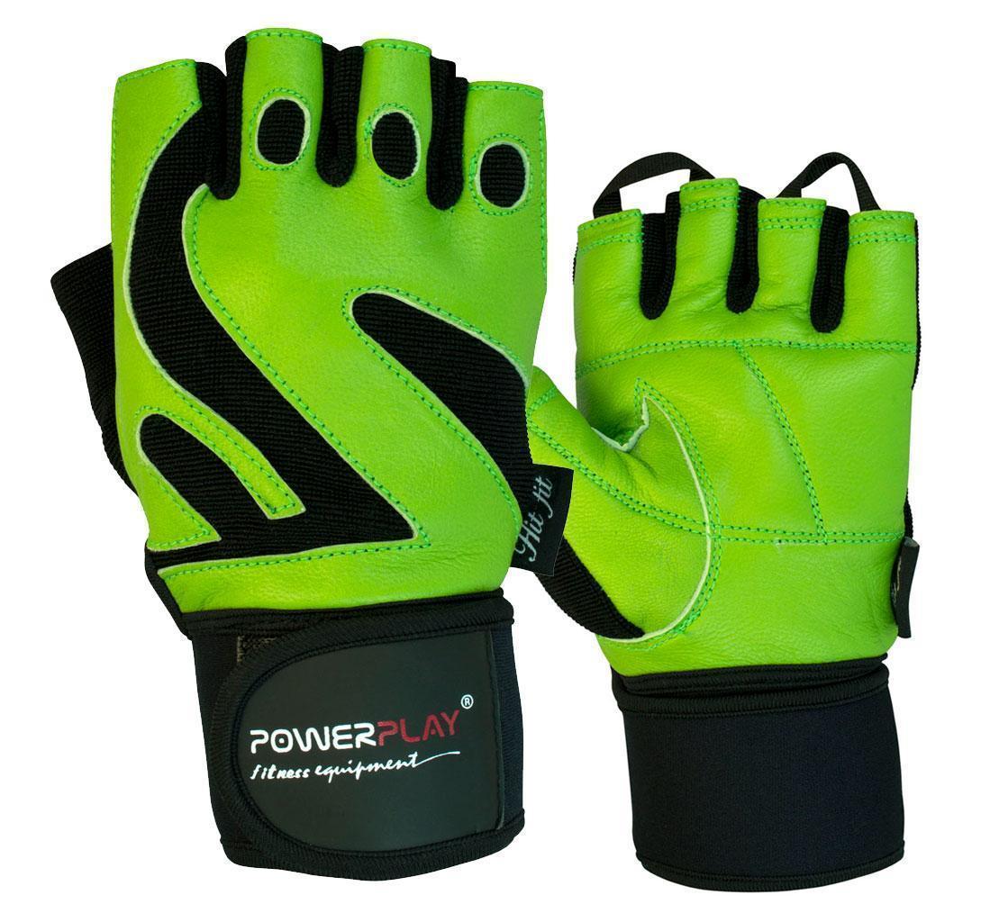 Рукавички для фітнесу PowerPlay 1064 D Зелені XL