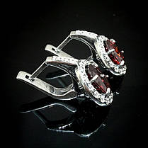 Серебряные серьги с цветными фианитами, фото 3