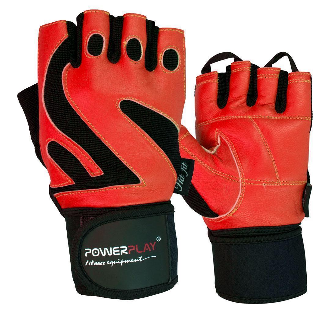 Рукавички для фітнесу PowerPlay 1064 E Червоні L