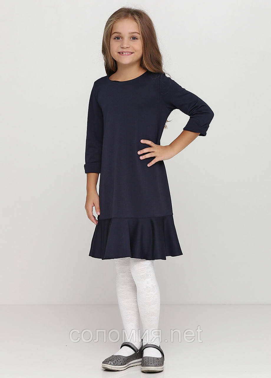 Гарна трикотажна сукня для дівчинки 128-152р