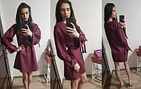 Платье замшевое в расцветках 35130