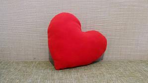 Подушка декоративная Сердце красное 40 см