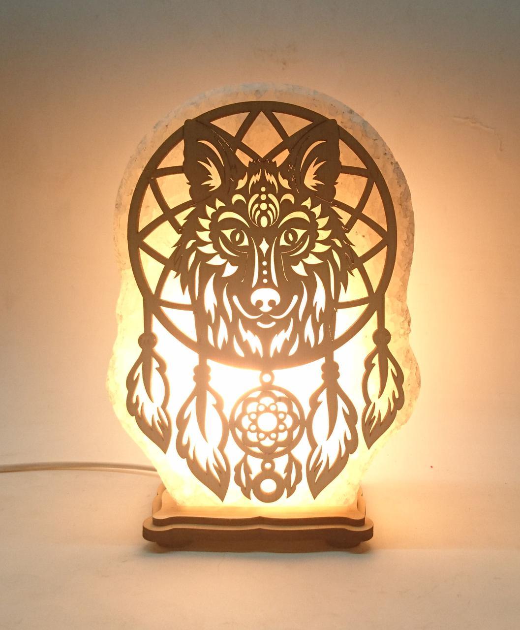 Соляной светильник Ловец снов Волк