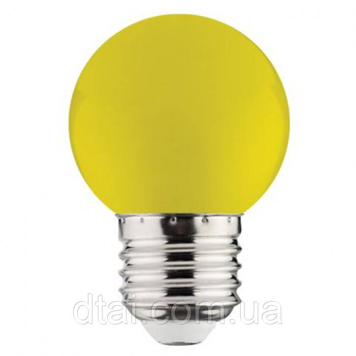 Светодиодная лампа жёлтая шарик LED Horoz RAINBOW 1W  E27
