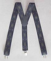 Серые мужские галстучные подтяжки , фото 1