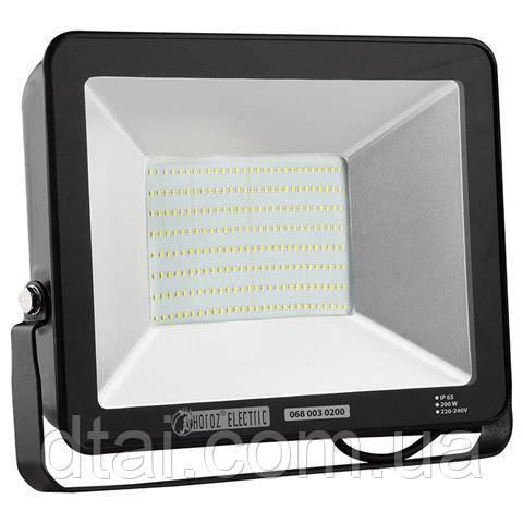 Прожектор светодиодный 200W  LED HOROZ 6400K (холодный белый)