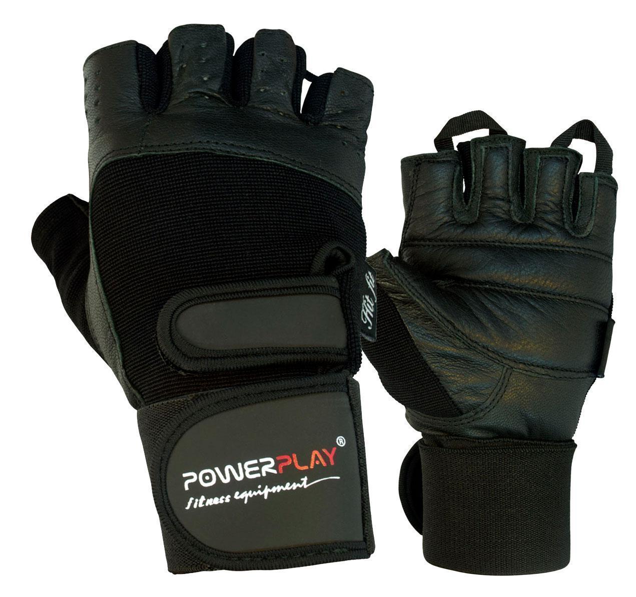 Перчатки для фитнеса и тяжелой атлетики PowerPlay 1073 черные L