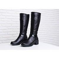 Женские сапоги кожаные на устойчивом каблуке в Украине. Сравнить ... 1ab47c2f89144