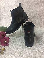 Кожаные женские ботиночки