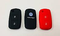 Силиконовый чехол на ключ 2 кнопки Volkswagen Golf Passat Caddy Polo ...