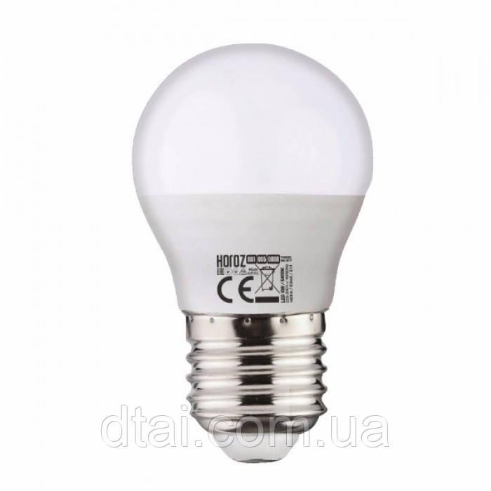 """Лампа светодиодная SMD LED 4W шар E27 """"ELITE-4"""" Horoz"""