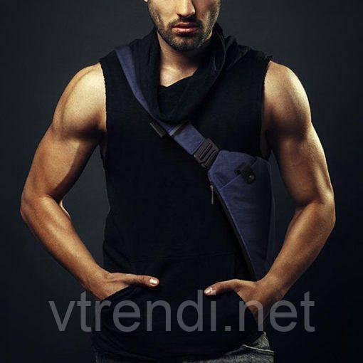 Мужская сумка через плече мессенджер Cross Body blue