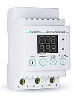 Реле напряжения с контролем тока НТ-40с, 40А, 8,8 кВт, hselectro