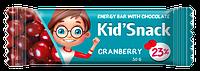"""Энергетический батончик """"Kid'Snack"""" Клюква, 30 гр"""