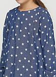 Бавовняна сукня  з зірочками для дівчинки 128-152р, фото 3