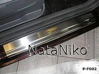 Накладки на пороги Ford C-MAX II 2010- / Форд Си-макс premium Nataniko, фото 1