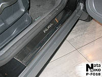 Накладки на пороги Ford KUGA I 2008-2013 / Форд Куга premium Nataniko, фото 1