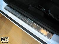 Накладки на пороги Ford MONDEO IV 2007- / Форд Мондео premium Nataniko, фото 1