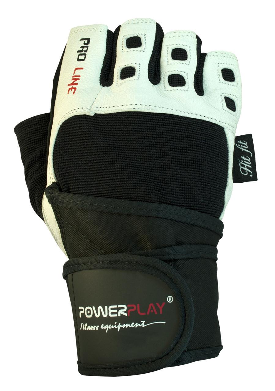 Рукавички для фітнесу PowerPlay 1096 Чорно-Білі XL