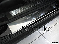 Накладки на пороги Mercedes-Benz ML (W164) 2005-2011 / Мерседес МЛ premium Nataniko, фото 1