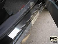 Накладки на пороги Mitsubishi OUTLANDER II 2006- / Митсубиси Оутлендер premium Nataniko, фото 1