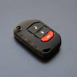 Силиконовый чехол для ключа Jeep Cherokee,Grand Cherokee,Renegade,Commander,Grand Commander,Wrangler,Compass