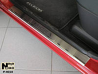 Накладки на пороги Nissan MICRA III 5D 2003- / Ниссан Микра premium Nataniko, фото 1