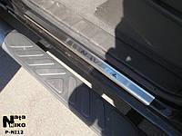 Накладки на пороги Nissan NAVARA III 2005- / Ниссан Навара premium Nataniko, фото 1