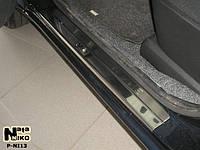 Накладки на пороги Nissan NOTE 2005- / Ниссан Нот premium Nataniko, фото 1